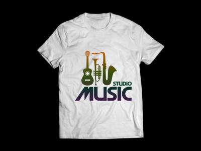 Music Studio T-shirt Design