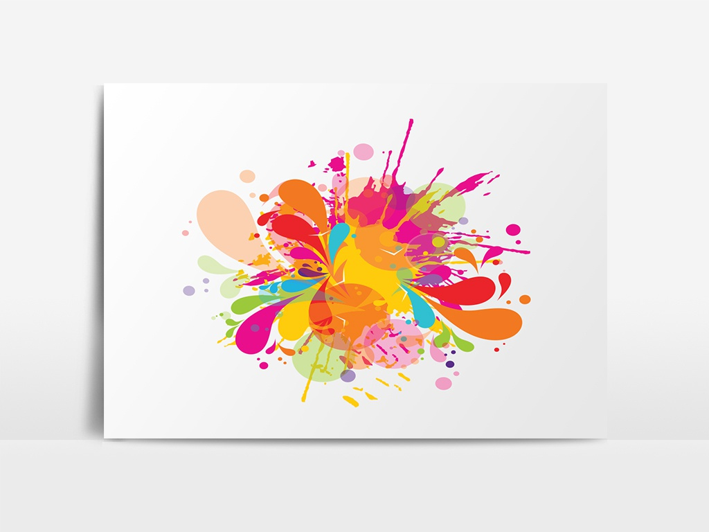 Abstract Purple Watercolor On White Background By Md Shopon