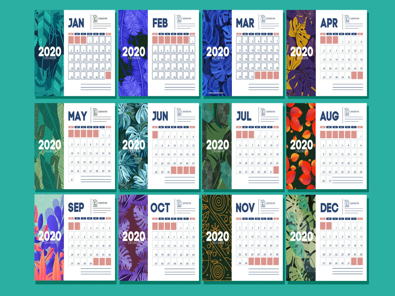 New Year 2020 Calendar Design By Md Shopon Hossen On Dribbble