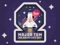 Space Oddity Badge Design