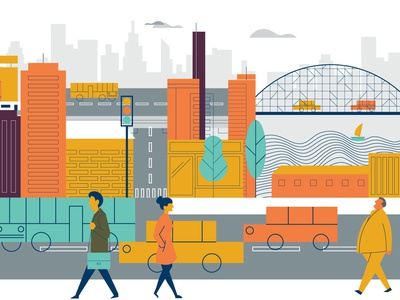 CIty - Carriall Backpack Film Illustration