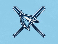 Bluejay Baseball Team Logo