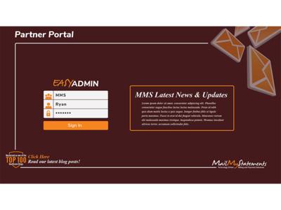 Website Template For MailMyStatements