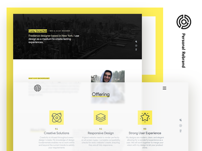 Personal Rebrand - About personal rebrand website redesign web design website clean modern ui freelance