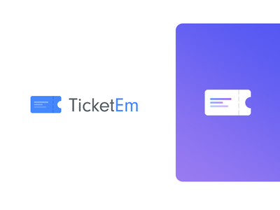 TicketEm Logo colorful illustrator design logo logo design