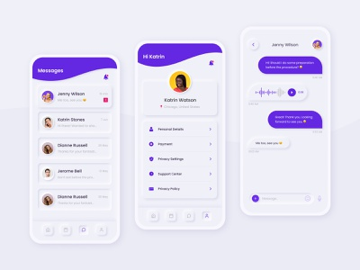 Profile and messages neumorphism beauty salon beauty figma neumorphic design neumorphic neumorphism ui neumorphism neumorph mobile design mobile app design mobile app mobile ui mobile