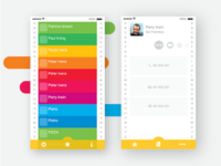 Calling App - Contacts screens