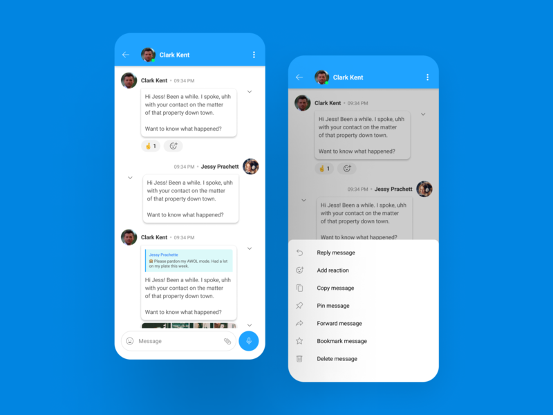 Chat screens - Light theme android app design android ios figma clean minimal branding creative ux app ui design