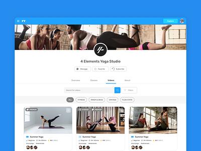Yoga Studio Creator figma ui ux education course elearning courses contentcreation video studio yoga studio elearning learn teacher yoga