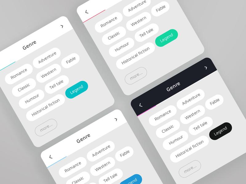 Cards for book genres web ux ui product design interface design design thinking design cx card ui book app app