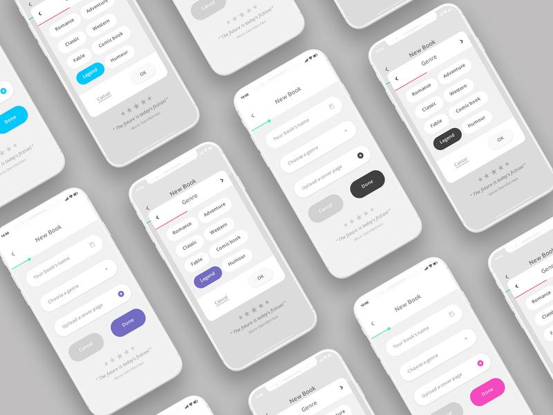 Book creation app branding mobile app development mobile ios product design interface design thinking ux design ui  ux ui design app