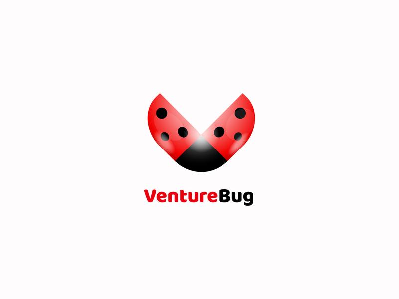 Logo for VentureBug minimal dribbble identity flat clean art 2d design icon illustration vector artwork branding logo