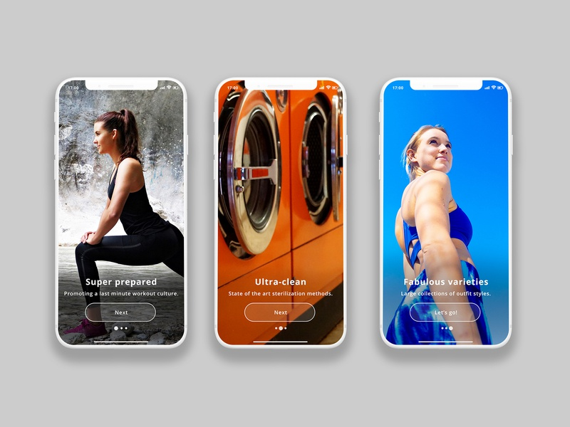 On Boarding concept for BringKit interface ios fitness workout fashion creative clean ui app ux design