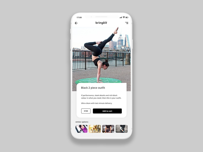 Preview page concept for Bringkit workout ios interface fitness app creative clean ux cx design ui app