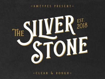 Silver Stone Font silver stone sans serif rough clean amtypes victorian vintage logotype typography lettering typeface font