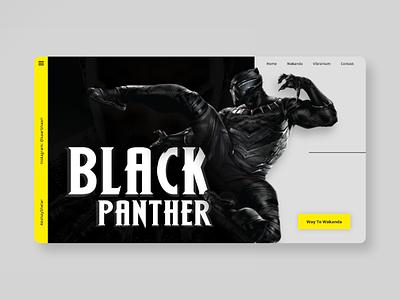 Black Panther wakanda mcu marvel blackpanther webui webdesign ux userinterface userexperience uiux ui landingpage