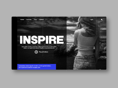 Inspire! webui webdesign ux userinterface userexperience uiux ui landingpage inspire
