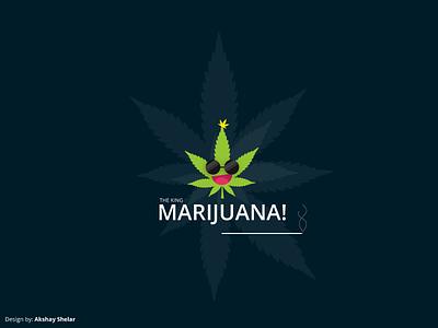 The King Marijuana! daretodesign ux ui userexperience userinterface akshayshelar characterdesign graphicsdesign marijuana