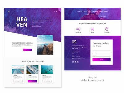 Heaven heavendesign heavenwebui kaarbhaari design akshayshelar daretodesign webui webdesign landingpage uiux ux userinterface userexperience ui