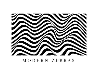 Modern Zebras ////////// blackandwhite black  white minimal brands brand identity branding design brand graphicsdesign landingpage userinterface userexperience uiux ux ui vector branding design