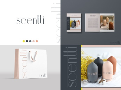 scentti - logo & brand colorful essential oils fragrance design elegant creative aroma brand logo