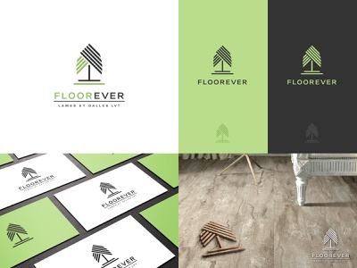 Floorever - Logo design eco friendly graphic design nature green flooring environmental branding creative design logo