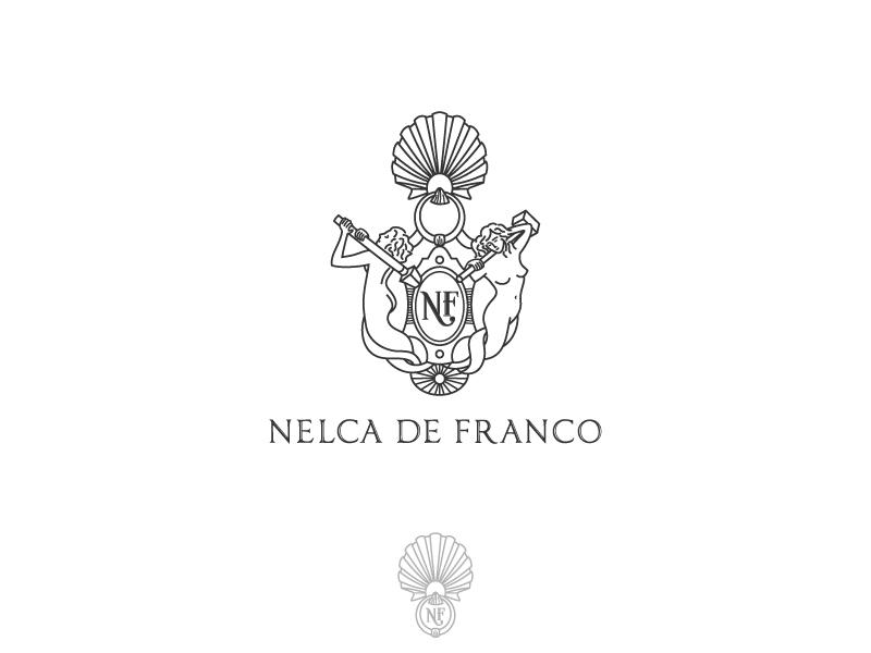Nelca De Franco - logo italian design elegant classy creative classic art logo hand drawn