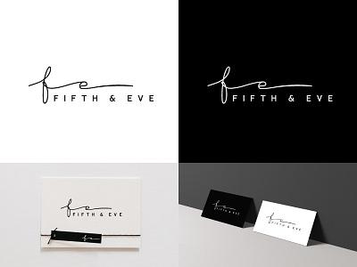 Fifth and Eve final - Logo creative elegant brand design accessories fashion minimalist logotype logo typogaphy handwritten