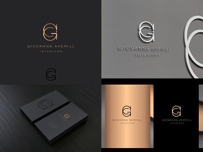 GA Interiors - Logo minimalist luxury logo classy elegant creative logotype interior design logo