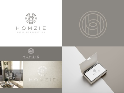 Homzie - Logo minimalist home decor classy vector interior design decorative design elegant creative logo