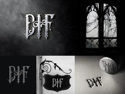 DHF - Logo decorative classic monogram gothic art creative logo