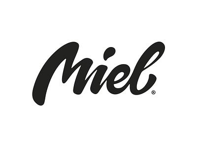 Miel Logotype miel lettering brushpen logo logotype identity custom handmade typography
