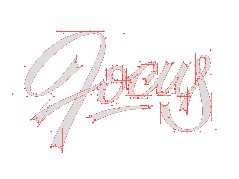 Focus Beziers bezier vector typography lettering custom curves