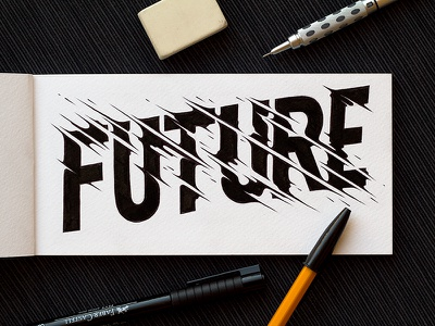 Future future goodtype sketch lettering typography