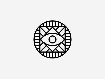 Free stickers identity minimal geometric simple eye lines logo sticker