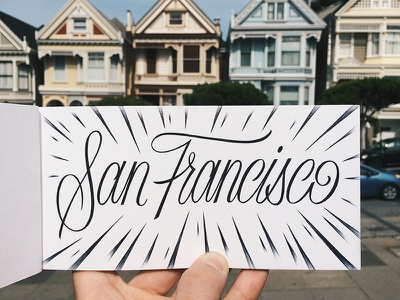 Painted Ladies custom handmade script type typography lettering san francisco sf