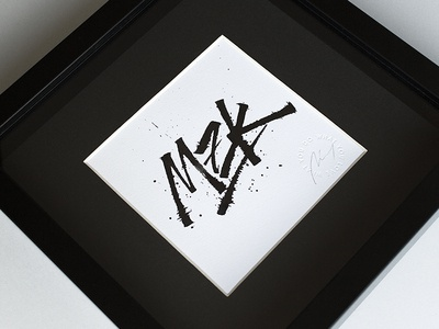 MZK art grunge ruling pen type calligraphy lettering typography mozak mzk