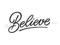 Believe WIP