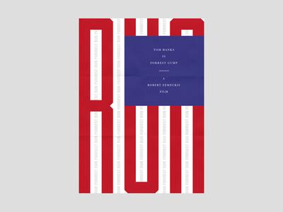 Forrest Gump Poster film movie typographic type typography design poster forrest gump