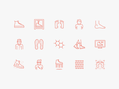 Solemaker Icons shoes illustration solemaker identity branding minimal simple line icons