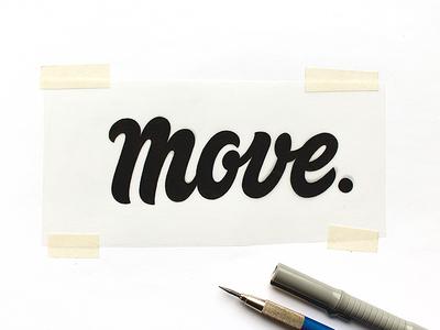 Move Sketch logo goodtype handtype sketch handmade custom script typography type lettering letters move