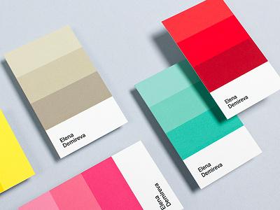 Elena Demireva colors mood interior designer personal logo brand branding identity visual identity