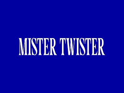 Mister Twister typeface serif editorial magazine lettering typography custom