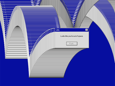 Out Of Space gameover popup message solitaire error windows space