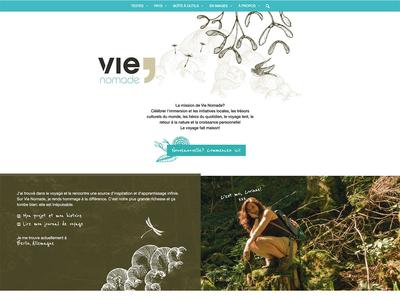 Vie Nomade web ux ui responsive logo graphic design branding