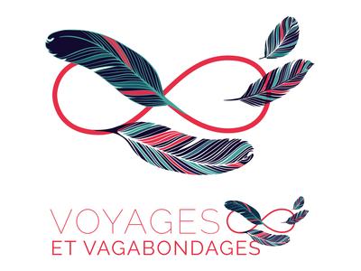 Voyages & Vagabondages graphic design logo branding