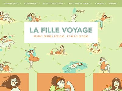 La Fille Voyage web ux ui responsive logo graphic design branding