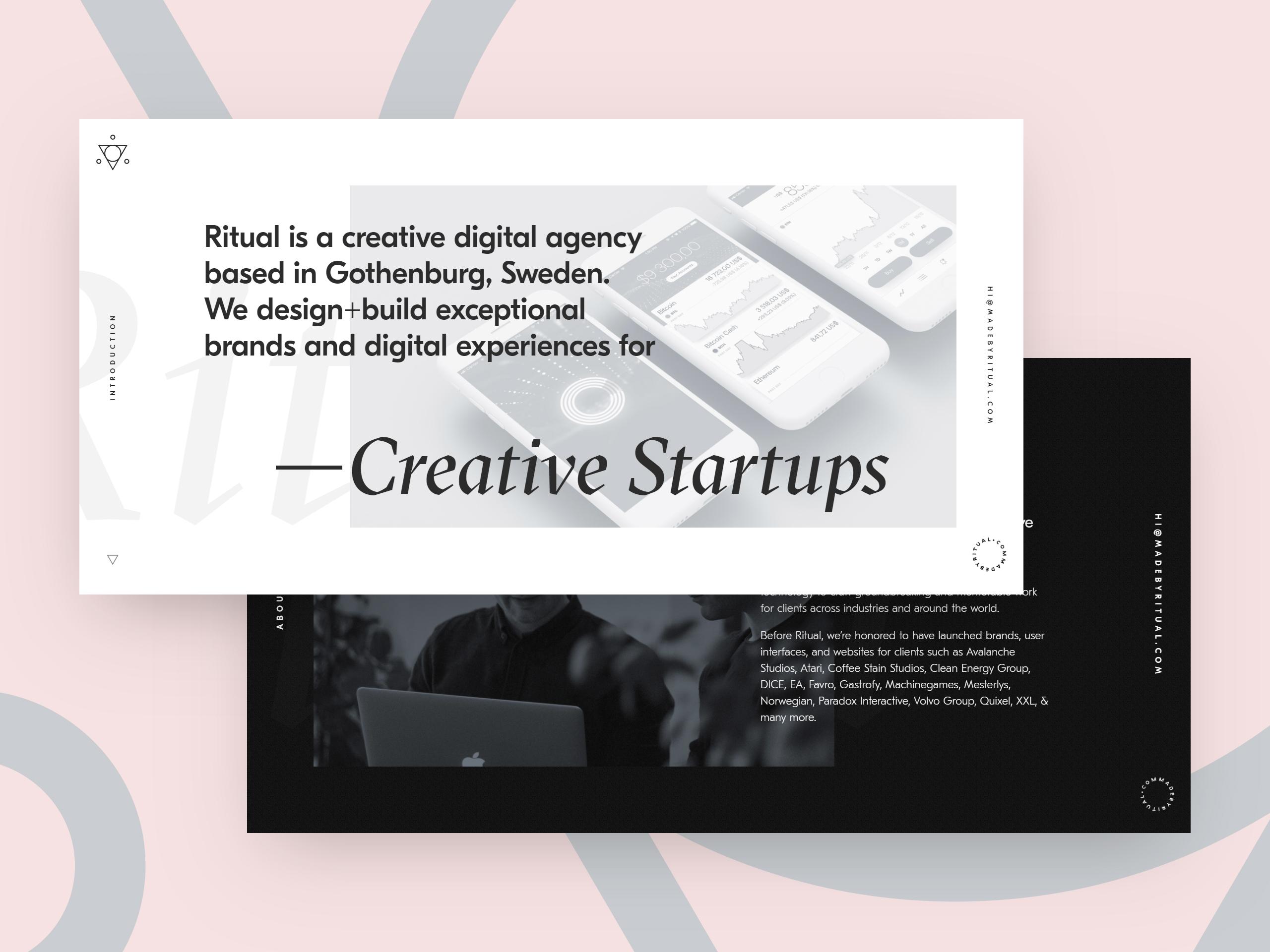 Ritual Digital Agency / Projects / Ritual | Dribbble