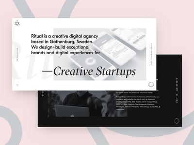 Hello Dribbble! typography gothenburg sweden debut pink white black website design one page minimal agency