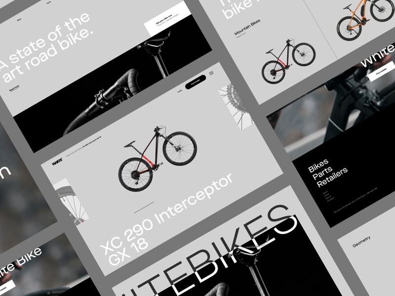 Design mockups for a bike company gothenburg design black website interfaces ux uiux ui product design extreme sport bike scandinavia minimal